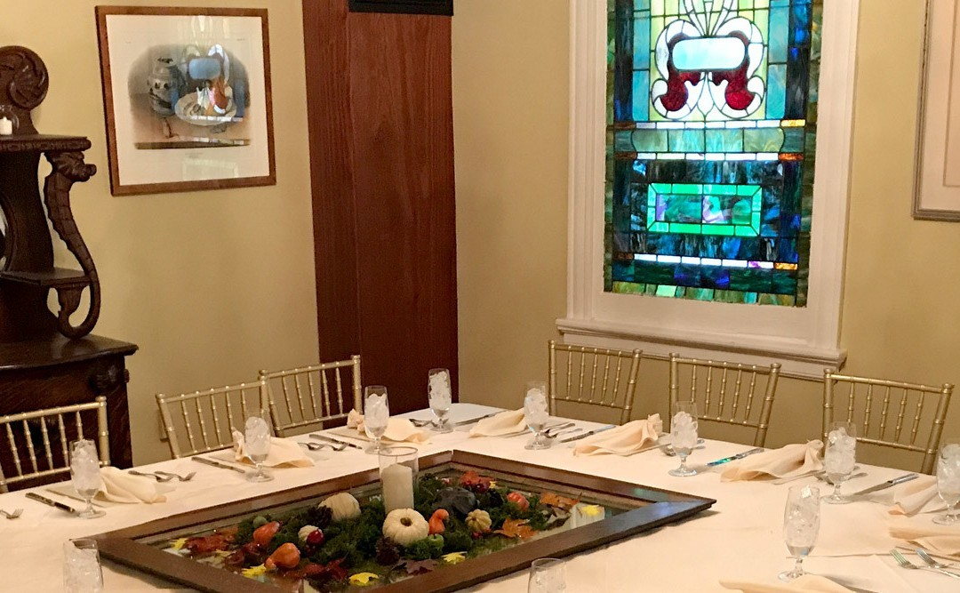 Experience Private Formal Dining In The Audubon Room At The Kenmore Inn.